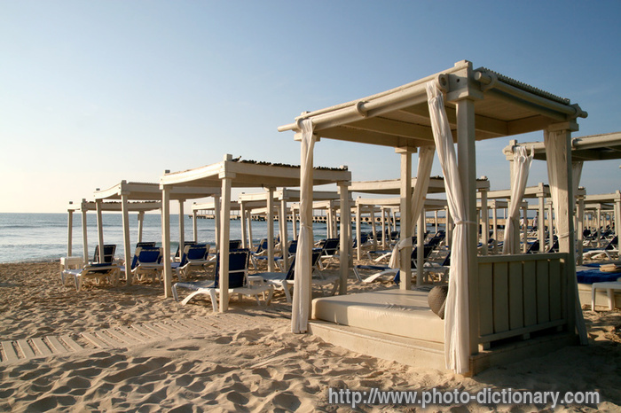 Beach Canopy Beds Photo Picture Definition At Photo