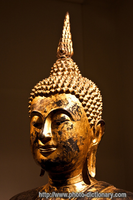 Happy Definition Of Happy At Dictionary Com >> Bodhisattva head - photo/picture definition at Photo