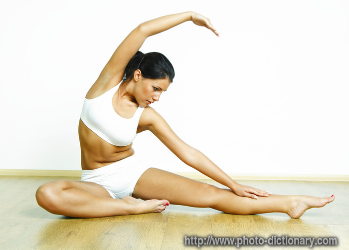 exercising - photo/picture definition - exercising word and phrase ...