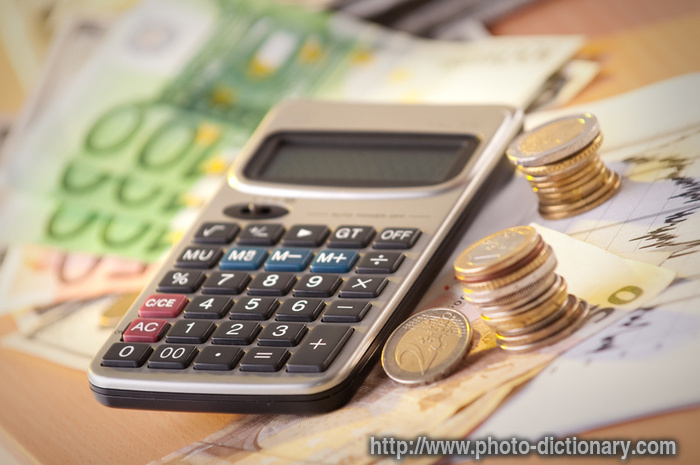 budget calculation photo picture definition at photo dictionary