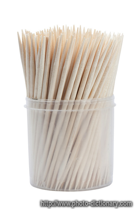 Wooden Toothpicks Picture Definition Dictionary Word And