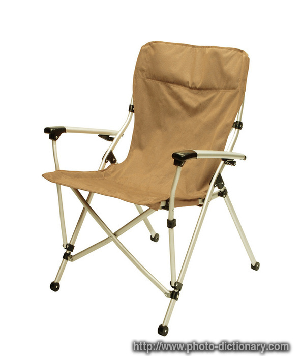 fishing chair photo picture definition at