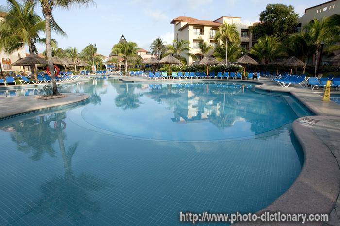 Resort pool photo picture definition at photo dictionary resort pool word and phrase defined - Define poolside ...