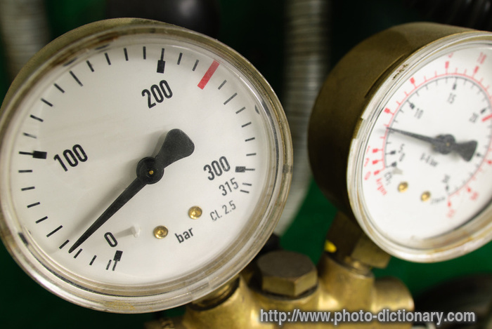 Air Pressure Scale Photo Picture Definition At Photo