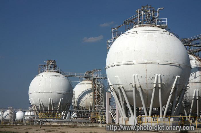 Oil Tanks Photo Picture Definition At Photo Dictionary