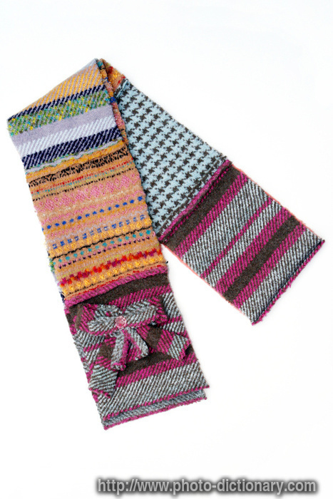 winter scarf photo picture definition at photo