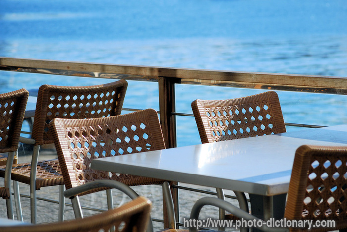 Terrace bar photo picture definition at photo dictionary for Definition for terrace