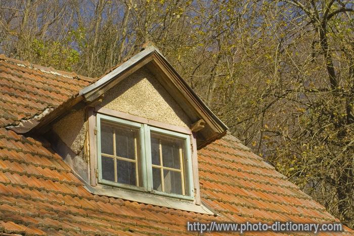 Roof window roof window loft for Balcony dictionary