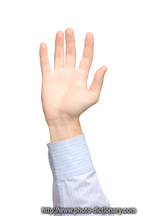 hand waving - photo/picture definition at Photo Dictionary ...
