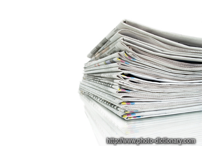 stack of newspapers photopicture definition at photo