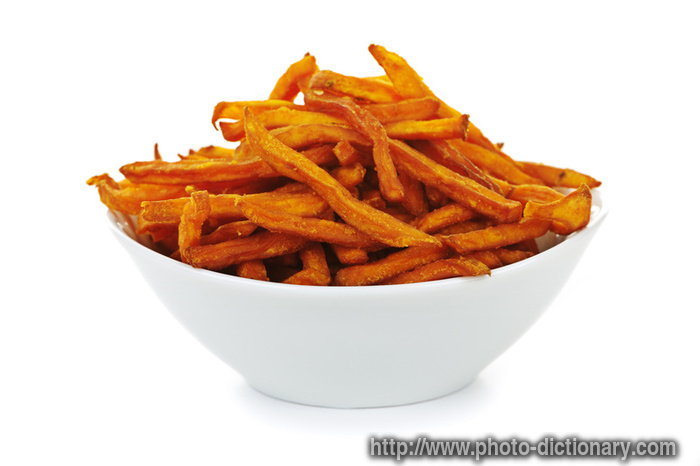 yam fries - photo/picture definition at Photo Dictionary - yam fries ...