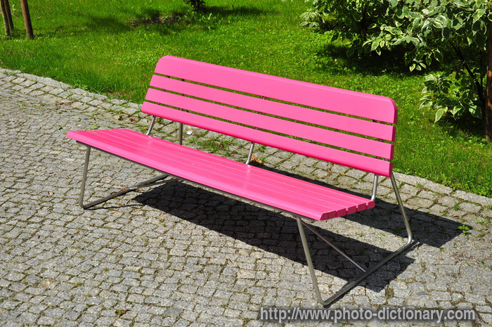pink park bench spring in image stock of green flowers photo download the garden