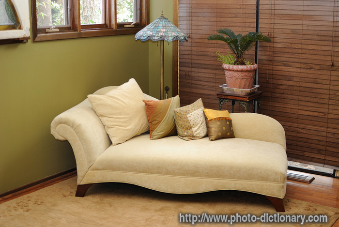 Lounge chair photo picture definition at photo for Chaise dictionary