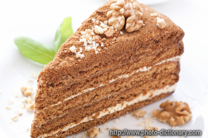 honey cake - photo/picture definition at Photo Dictionary - honey cake ...