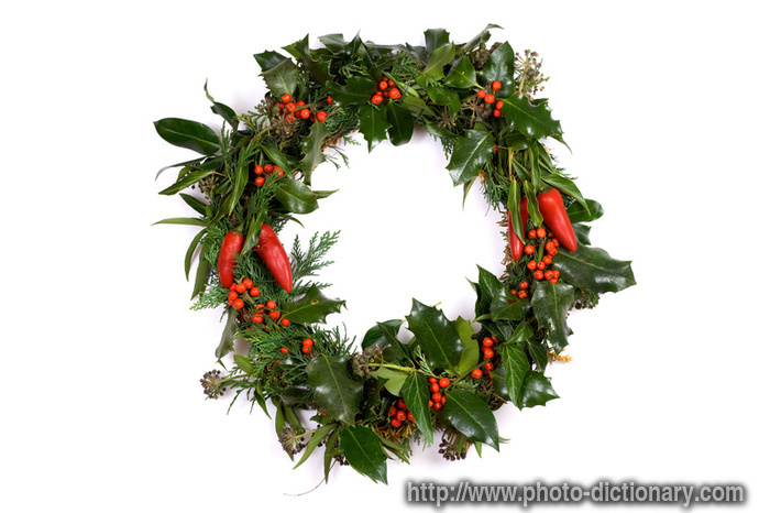 christmas wreath photopicture definition christmas wreath word and phrase image - What Is The Definition Of Christmas