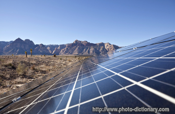 Solar Array Photo Picture Definition At Photo Dictionary