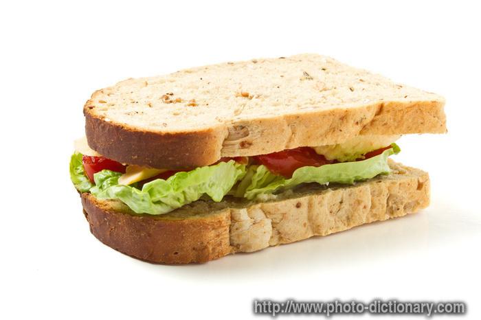 vegetarian sandwich - photo picture definition - vegetarian sandwich    Sandvich