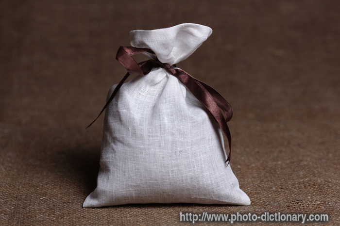 Burlap Gift Sack Photo Picture Definition At Photo