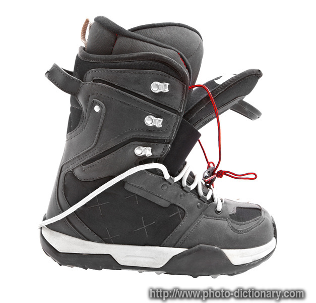 snowboard boot photo picture definition at photo