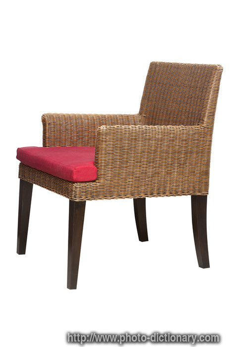 rattan chair photo picture definition at