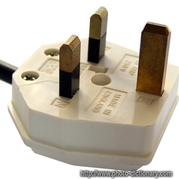 British Plug Photo Picture Definition Word And Phrase Image