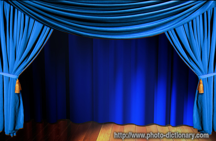 Curtain   Photo Picture Definition   Curtain Word And Phrase Image