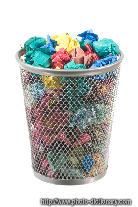 waste paper basket - photo/picture definition - waste paper basket word and