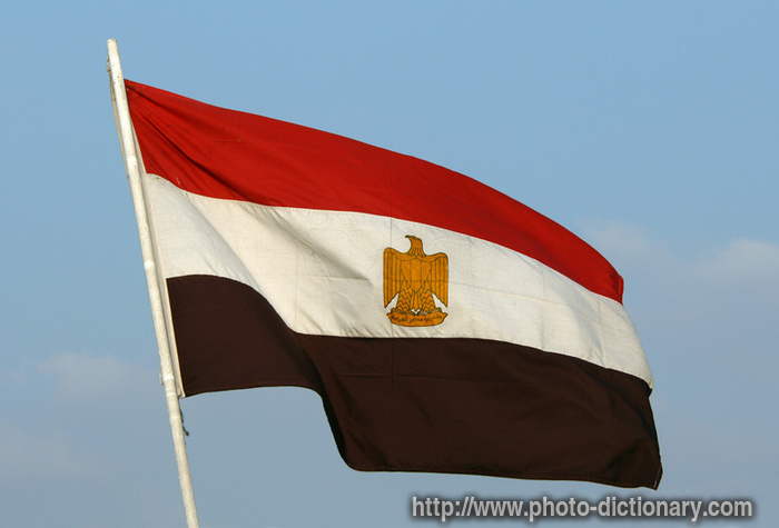 Egyptian flag - photo/picture definition - Egyptian flag word and phrase