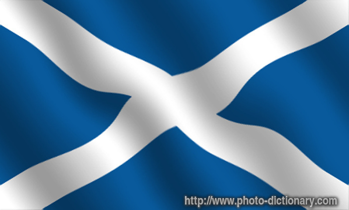 Scottish flag - photo/picture definition at Photo Dictionary ...