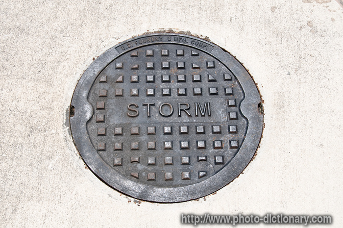 storm drain photo picture definition at photo dictionary storm