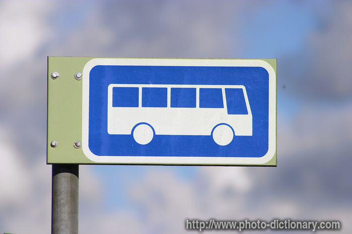Bus Stop Photo Picture Definition At Photo Dictionary