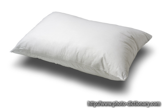 pillow - photo/picture definition at Photo Dictionary - pillow