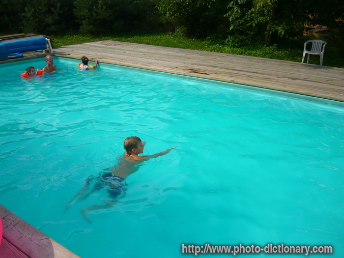 Swimming pool photo picture definition at photo dictionary swimming pool word and phrase - Define poolside ...