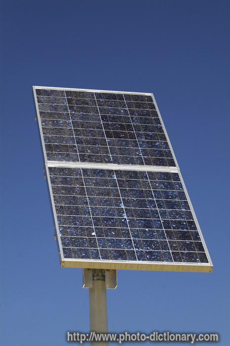 Solar Cell Photo Picture Definition At Photo Dictionary