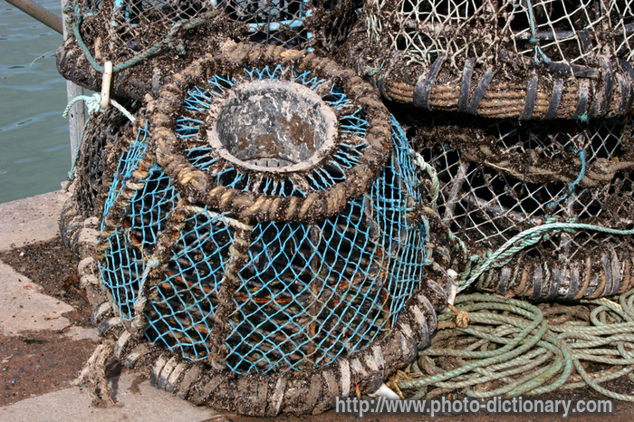lobster pot - photo/picture definition at Photo Dictionary ...