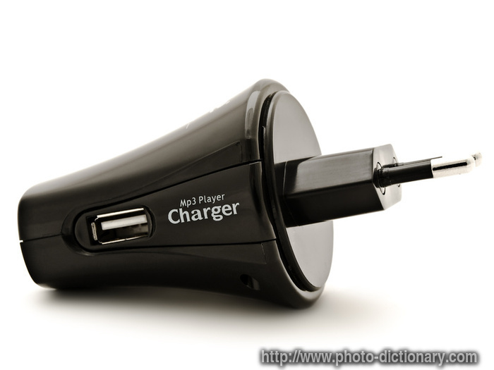 mp3 charger - photo/picture definition at Photo Dictionary - mp3