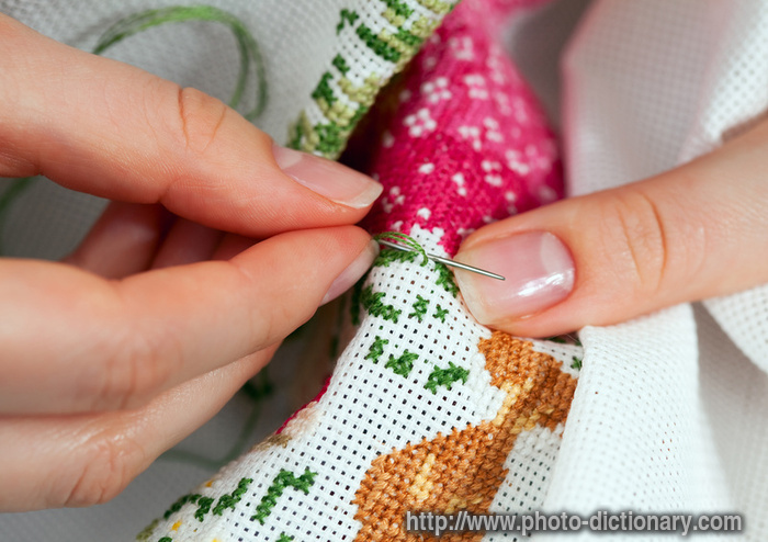 Embroidery Photopicture Definition At Photo Dictionary