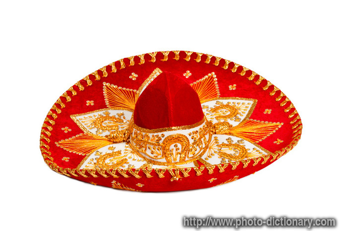 sombrero - photo/picture definition - sombrero word and phrase image