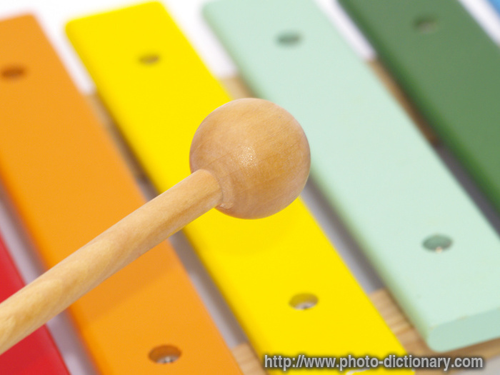 xylophone - photo/picture definition at Photo Dictionary - xylophone word and phrase defined by ...