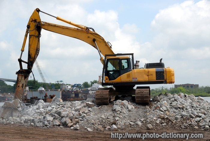 Backhoe photo picture definition at photo dictionary for Definition construction