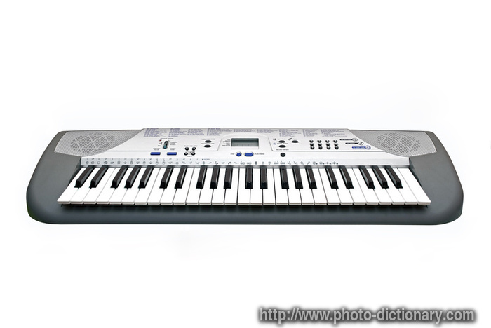 electric piano - photo/picture definition at Photo Dictionary ...