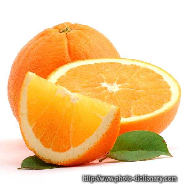 Orange - photo/picture definition - Orange word and phrase image