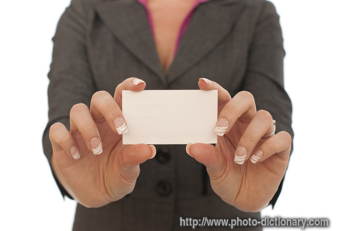 business card - photo/picture definition at Photo ...