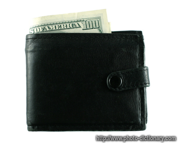 wallet  picture definition at photo dictionary