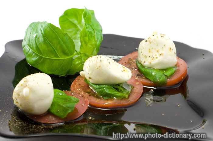 Caprese definition for Dictionary canape