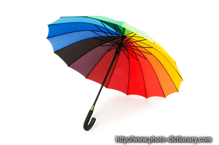 colorful umbrella - photo/picture definition at Photo Dictionary ...