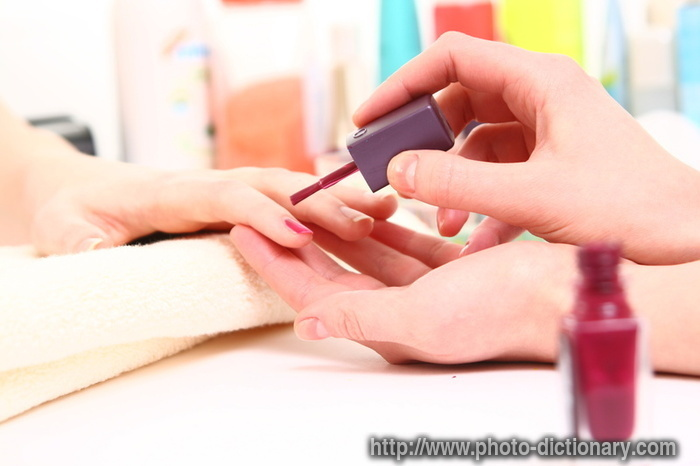 Manicure - photo/picture definition - manicure word and phrase image