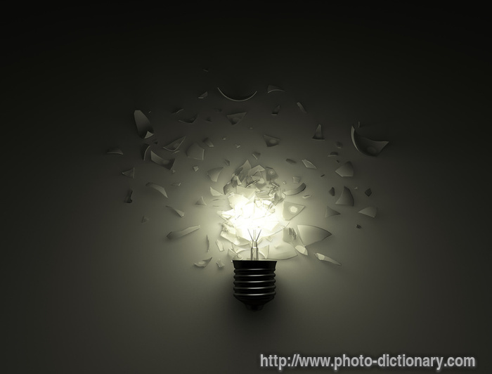 broken lamp - photo/picture definition at Photo Dictionary ...