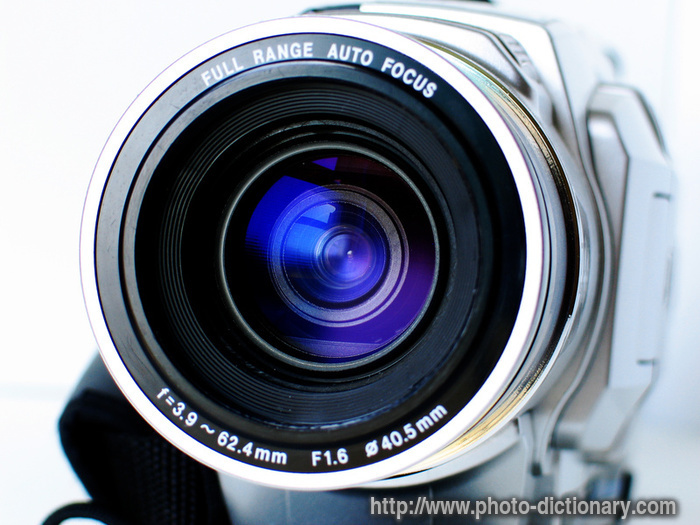 camera lens - photo/picture definition - camera lens word and phrase ...