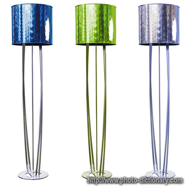 Floor lamp photo picture definition at photo dictionary for Floor definition
